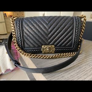 Chanel Flapbag brown/black with gold hardware